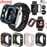 For Apple iWatch Series 6 5 4 SE 40mm 44mm TPU Bumper Case Cover+Tempered Glass