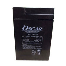 Oscar 6V 4.5Ah Sealed Lead Acid Rechargable Battery for UPS Emergency Light TOYS