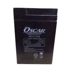 Oscar 6V 4.5Ah Sealed Lead Acid Rechargable Battery for UPS Emergency Light TOYS