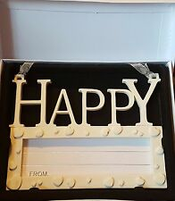 Happy Wall Plaque, Write Own Personalised Message