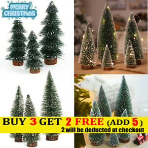 1x Xmas Mini Pine Snow Tree Frost Wire String Light for DIY Craft Home Decor