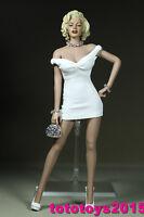 "Customed 1:6 Scale Woman White Skirt for 12"" Female Body Model Toy"