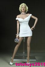 """Customed 1:6 escala Mujer Blanco Falda para 12"""" modelo de cuerpo femenino Juguete Figura De Acción"""