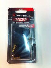 4 Pcs Headphone Adapter Kit 1/8 3.5mm 1/4 6.35mm Male Female RadioShack #274-899