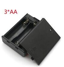 Funda de batería AA 3 ranuras en casos de almacenamiento de información de energía apagado cuadro titular 4.5 V