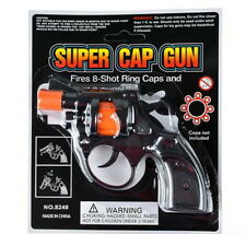 "1 6"" 8 SHOT REVOLVER SUPER TOY CAP GUN PISTOL HANDGUN PARTY FAVOR FREE SHIPPING!"