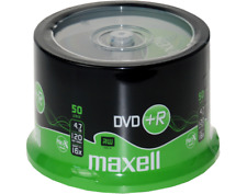 50 MAXELL DVD+R Rohlinge 16x 4,7GB  in Spindel