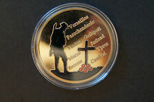 The Great War - 1914-1918 - Gold Plated Coin in Case -inc.Somme,Ypres,Gallipoli