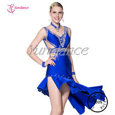 Newest Excellent Tailor-Made Sexy Latin Dance Dress Royal Blue