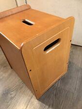 Vintage Wooden Ottoman Box Storage