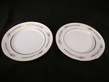 Grano by Empress China Japan Bread Plates Set of 2 Wheat Design Gold Trim 1813
