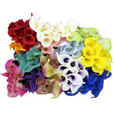 10Pcs Artificial Real Touch Calla Lily Fake Flowers Wedding Home Garden Decor