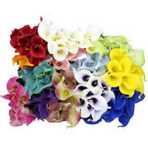 10x Artificial Real Touch Calla Lily Fake Flowers Wedding Home Garden Decor  DIY