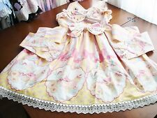 Bodyline Sweet Lolita Yellow & Pink Striped Dessert Parfait JSK Dress Size M NWT