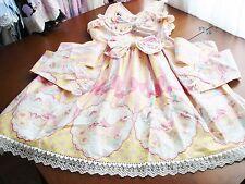 Bodyline Sweet Lolita Yellow & Pink Striped Dessert Parfait JSK Dress Size M NWT