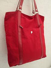 -AUTHENTIQUE sac à main  LANCASTER toile rouge TBEG vintage bag