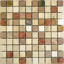 Rosone rosoni incollati su rete piastrelle in marmo 31x31 con tessere 3x3