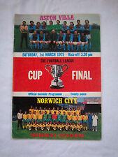 Orig.PRG  ENGLAND  League Cup  FINALE 1975   ASTON VILLA - NORWICH CITY  !!  TOP