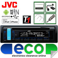Vauxhall Agila A JVC Radio CD MP3 USB Car Stereo & Steering GUNMETAL Fitting Kit