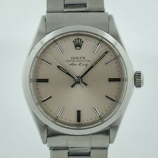 Rolex Oyster Perpetual Air-King Ref 5500 Stainless Steel Men's Silver Dial 1974