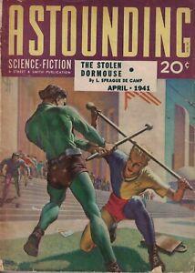 1941 Astounding Science-Fiction April - Robots - Asimov; Sturgeon; Ley; Dormouse
