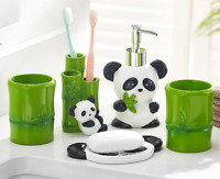 5pcs Lovely China Panda Bathroom accessories set Resin Soap dish Dispenser Gifts