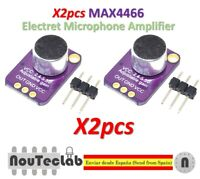 2pcs GY-MAX4466 Electret Microphone Amplifier MAX4466 Adjustable Gain Module