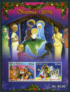 SRI LANKA 2016 Christmas Religion Festival Nativity Art Miniature sheet