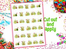 Valentines Day Avocados Edible Wafer Paper Cupcake Toppers Cake Birthday Party