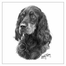 Mike Sibley Gordon Setter dog breed greeting card happy birthday thank you mum