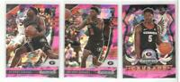 x3 ANTHONY EDWARDS 2020-21 Prizm Draft ALL Pink Ice Refractor Rookie Card RC lot