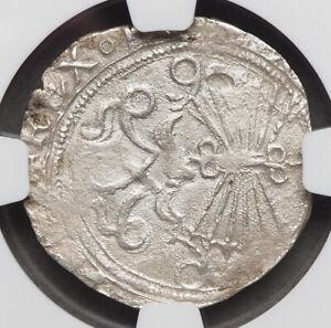 SPAIN. Ferdinand and Isabella, 1474-1504, Silver Real, Sevilla, NGC XF