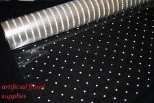 1 roll white dot floristry cellophane wrap 20m x 80cm