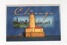 Chicago Harbor Lighthouse Postcard USA 408a ^