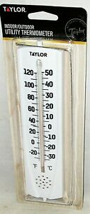 TAYLOR 5307  Indoor / Outdoor Utility Thermometer w/ Swivel Bracket