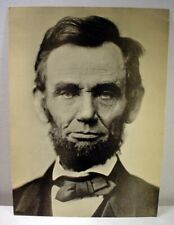 """Vintage President Abe Lincoln 6 ½"""" by 9"""" Jumbo Post Card 1970's"""
