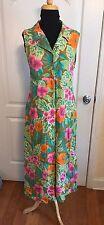 Bahama Beach Womens Sleeveless Dress MuMu Size M Full Length Hawaiian Floral