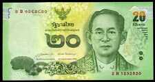 THAILAND  20 BAHT (2013) 2015 Prefix 2B  - P 124 Sign. 85 Uncirculated Banknotes