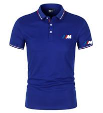 Autos BMW Herren Freizeit Sportlich Kurzärmeliges T-shirt Polo Kurzarm Hemd DE