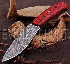 EVEREST HUNT CUSTOM HANDMADE DAMASCUS STEEL HUNTING CAMP SKINNER KNIFE B8-1640