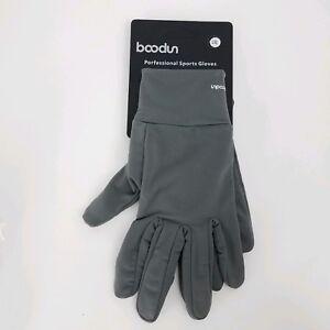 Boodun Grey Men Women Sports Touch Screen Full Finger Warm Gloves L/XL Boildeg