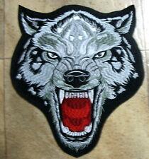 Aufnäher Wolfsgesicht grüne Augen Wolf Patch