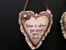 shabby chic country vintage decor verse heart hanger sign cushion pillow j