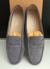 Tod's Lavender Suede Gommino Gommini Driving Shoes Loafers Moccasins Like NEW 38