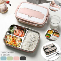 3/4 Grid  Lunch Box For Kids Adults Food Container Set Bento Storage Boxes