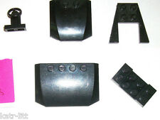 LEGO Black Hood Car Parts 45677 52031 3829 43719 4SET 7939 4512 10233 70815 lot