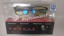 GUNNAR Gaming Glasses VERTEX 54-16 Onyx Black Frame w/ Amber Yellow Lenses 65