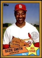 Ozzie Smith 2020 Topps 1985 35th Anniversary All-Stars 5x7 Gold #85AS-24 /10 Car