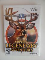 Cabela's Legendary Adventures Game New & Sealed! Nintendo Wii