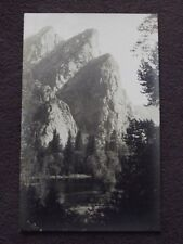 BEAUTIFUL CLIFFS OVERLOOKING MOUNTAIN LAKE OR STREAM Vintage REAL PHOTO POSTCARD